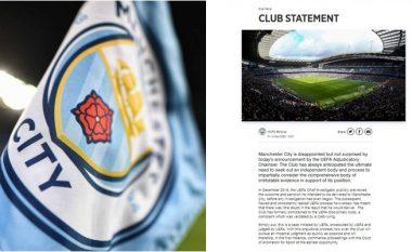 Reagon Manchester City: Jemi të zhgënjyer por jo të befasuar, do të ankohemi në CAS