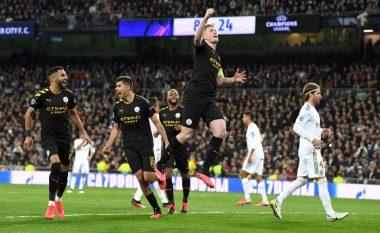 Tri gola të shënuara dhe një karton i kuq në Bernabeu - Manchester City fiton takimin e parë ndaj Real Madridit në Ligën e Kampionëve