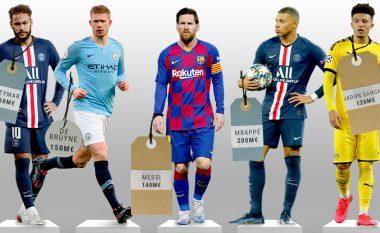 Dhjetëshja e lojtarëve më të vlefshëm aktualisht në botë - Messi larg vendit të parë, Ronaldo jashtë 'top 10'