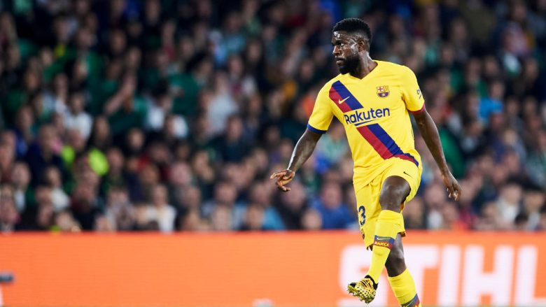 Samuel Umtiti. (Photo by Aitor Alcalde/Getty Images)