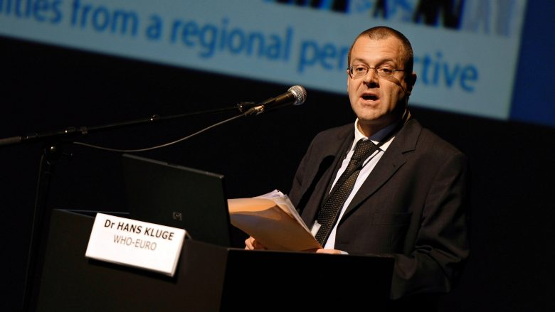 20101108 - GENK, BELGIUM : Hans Kluge (Acting Director, Division of Health Systems and Public Health, WHO-Europe) pictured at the Regions for health network conference, on the first of the two-days event, Monday 08 November 2010, in C-Mine in Genk. BELGA PHOTO YORICK JANSENS