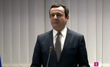 Kurti: Prej nesër hiqet taksa dhe aplikohet reciprociteti ndaj Serbisë
