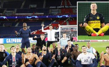 Babai i Haalandit thumbon lojtarët e PSG-së pas imitimit që ia bënë sulmuesit të Dortmundit
