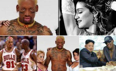 Denis Rodman, basketbollisti më i përfolur në NBA: Marrëdhënia me Madonnan dhe oferta e saj 20 milionëshe, problemet te Chicago dhe miqësia me Kim Jong-un