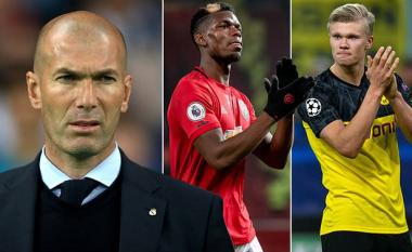 Zidane e bën prioritet transferimin e Pogbas dhe Haalandit