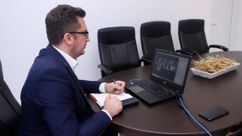 Ministri Mustafa takim virtual me përfaqësuesit e BE-së, ambasadës gjermane dhe GIZ-it