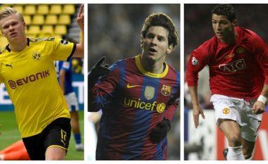 Haaland nuk ndalet: Arrin shifrën e mbi 40 gola për tre vjet para Ronaldos dhe Messit