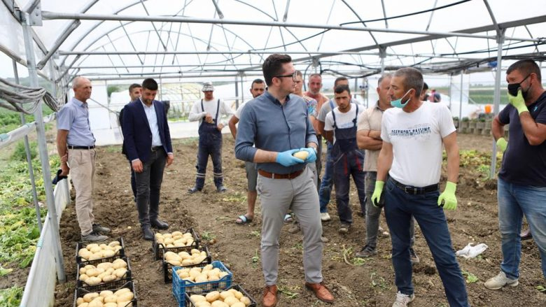 Ministri Mustafa viziton fermerët në Rahovec
