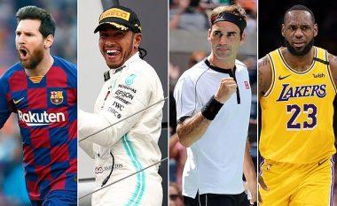 Forbes publikon milionerët e vitit 2020 - Federer i pari, ndiqet nga Ronaldo e Messi