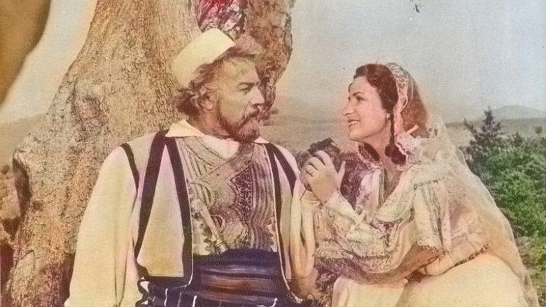 Aktori Akaki Horava në rolin e Skënderbeut, dhe aktorja Besa Imami në rolin Donikës