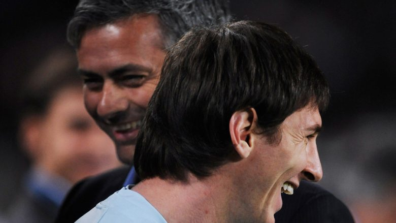 Jose Mourinho dhe Lionel Messi (Foto: Getty Images/Guliver)