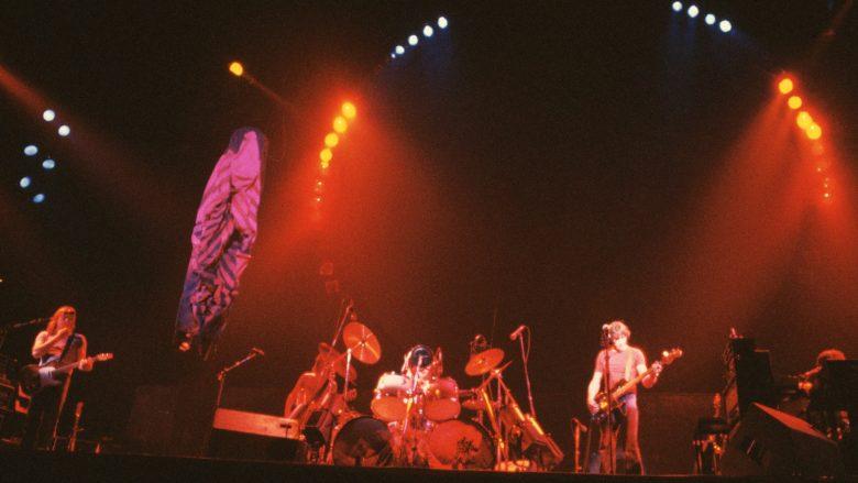 Pink Floyd në një concert të vitit 1977, në Oakland të Kalifornisë në ShBA (Foto: Roger Ressmeyer/Corbis/VCG via Getty Images)
