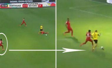 Alphonso Davies regjistroi një shpejtësi marramendëse në një aksion ndaj Dortmundit