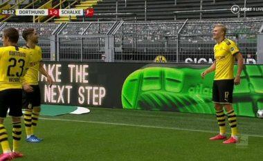 Shënohet goli i parë në Bundesliga pas më shumë se dy muajsh, kush tjetër përveç Haaland