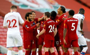 Liverpooli merr një fitore me aromë titulli ndaj Crystal Palace, pret gabimin e Cityt për t'u shpallur kampion i Anglisë