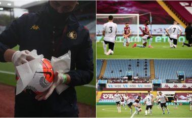Distanca sociale, zëri në stadium, topa e dezinfektuar: Tetë gjërat kryesore që u panë në rikthimin e Ligës Premier