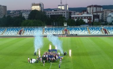 Pamje nga festa e Prishtinës pasi fituan Kupën e Kosovës