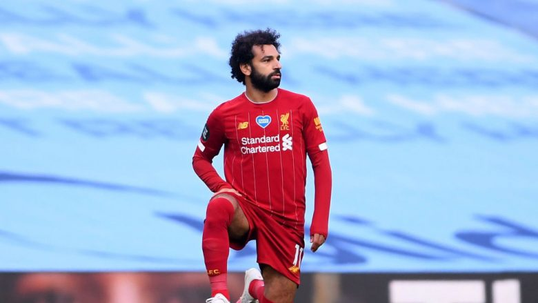 Mohamed Salah. (Photo by Laurence Griffiths/Getty Images)