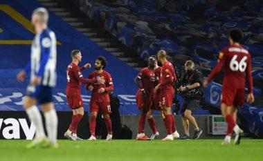 Liverpooli fiton edhe ndaj Brightonit, Salah shkëlqen me dy gola dhe një asistim
