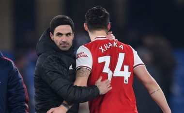 Arteta llogaritë në Granit Xhakën për sezonin e ardhshëm: Mezi arrita ta bind për të mbetur te Arsenali