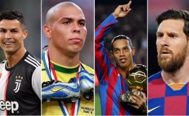 Ronaldo dhe Ronaldinho i jepin fund debatit se cili është më i mirë midis Lionel Messit dhe Cristiano Ronaldos