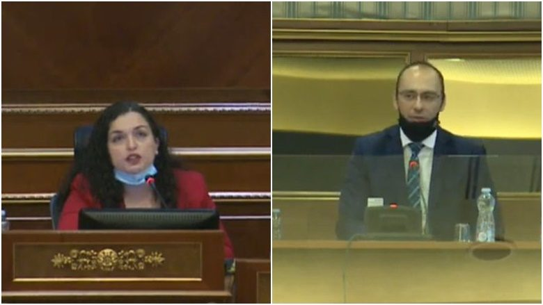 Osmani përplaset ashpër me deputetin serb, Simiq: Nuk kam kërkuar votën tuaj për tu bërë kryetare e Kuvendit