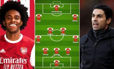 Willian te Arsenali: Gjashtë formacione se si mund të rreshtohen 'Gunnersat' e Artetas sezonin e ardhshëm