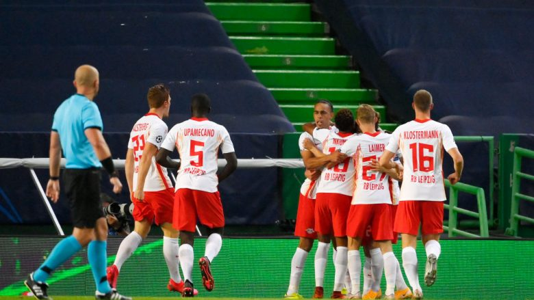 RB Leipzig . (Photo by Lluis Gene/Getty Images)