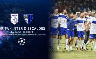 Drita kërkon fitoren ndaj Inter Escaldes, formacionet zyrtare