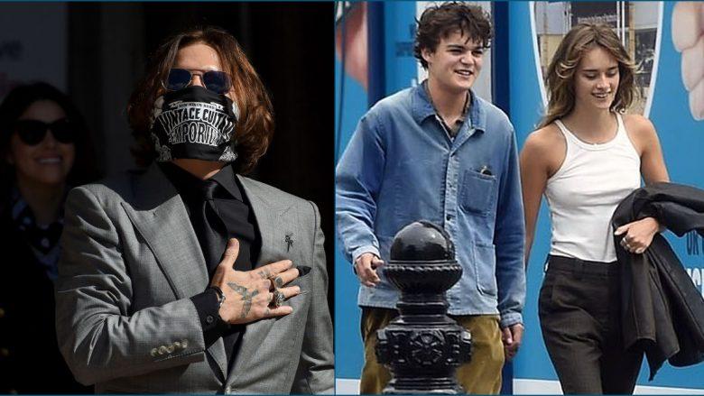Djali 18 vjeçar i Depp që rrallë shihet në media, fotografohet me të dashurën në Paris