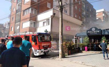 """Tym në rrugën """"Muharrem Fejza"""", intervenojnë zjarrfikësit"""