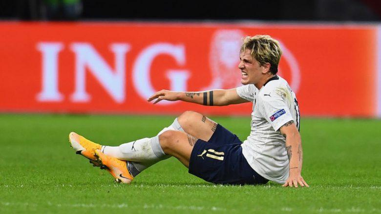 Nicolo Zaniolo i dëshpëruar nga lëndimi (Foto: Claudio Villa/Getty Images/Guliver)