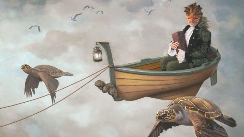 """""""Fluturimi i muzës"""", vepër e piktorit Paul Bond"""