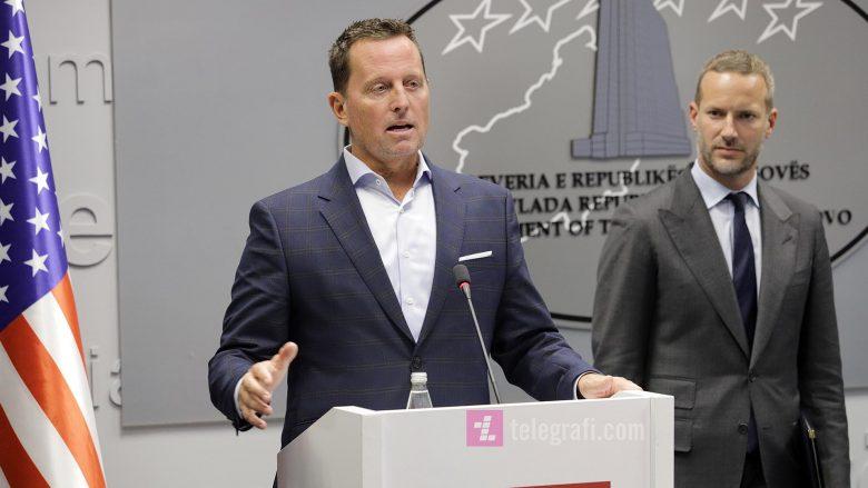 Richard Grenell dhe Adam Boehler gjatë një konference për medie | Foto: Ridvan Slivova/Telegrafi