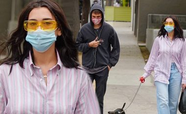 Dua Lipa shfaqet me një stil të çuditshëm, endet me rroba shumë të gjera krah Anwarit në Los Angeles
