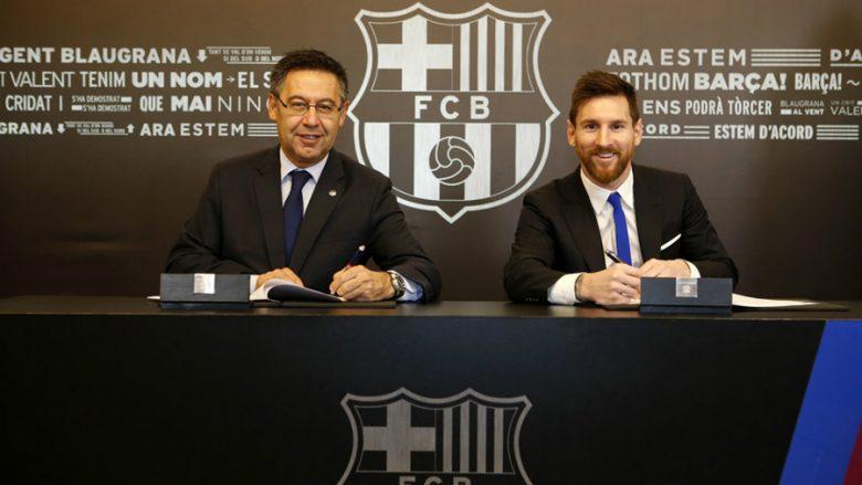 Bartomeu e Messi (Foto: fcbarcelona.com)