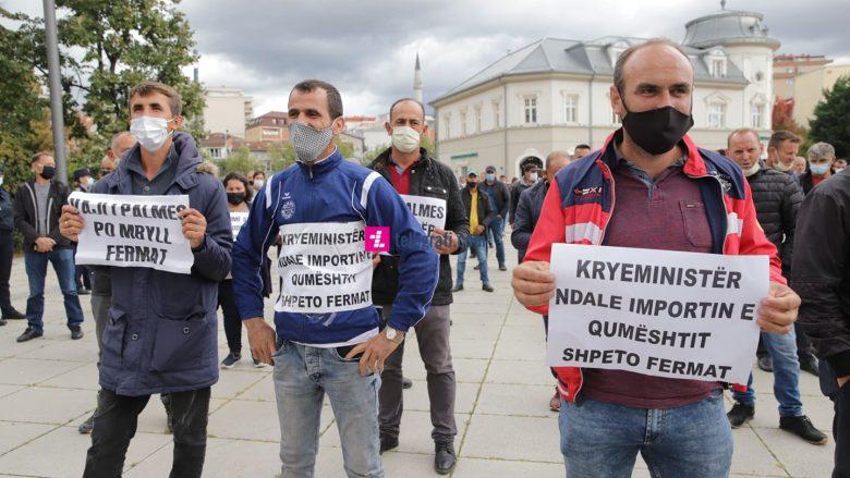 Protesta e fermerëve të qumështit | Foto: Ridvan Slivova/Telegrafi