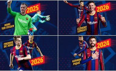 Zyrtare: Barcelona rinovon me Piquen, Ter Stegen, Lenglet dhe De Jong – vendosen klauzola të frikshme