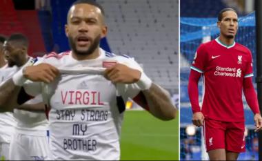 Memphis Depay si asnjë lojtar tjetër – ylli i Lyonit me mesazh special për Van Dijkun e lënduar