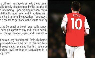 Letra emocionale e Mesut Ozilit pasi u la jashtë listës së Arsenalit për ndeshjet e Ligës Premier