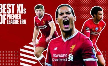 Formacioni më i mirë i Liverpoolit në histori të Ligës Premier: Gerrard, Salah dhe lojtarët kryesorë të epokës moderne