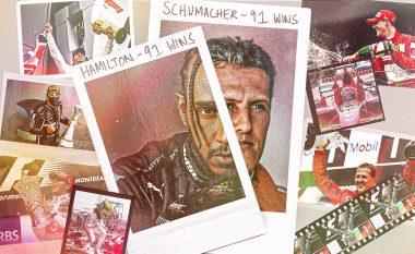 Lewis Hamilton barazon rekordin e Michael Schumacher me 91 fitore