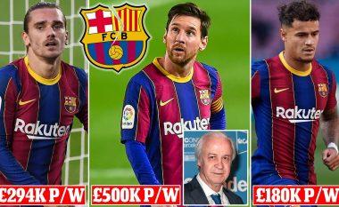 Barcelona e bindur se lojtarët do të heqin dorë nga 30 për qind e pagës për t'i shpëtuar falimentimit