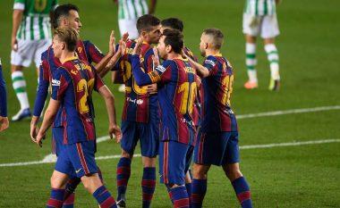Barcelona i kthehet fitores pas katër ndeshjeve, Messi shënon dy gola në fitoren e thellë ndaj Real Betisin