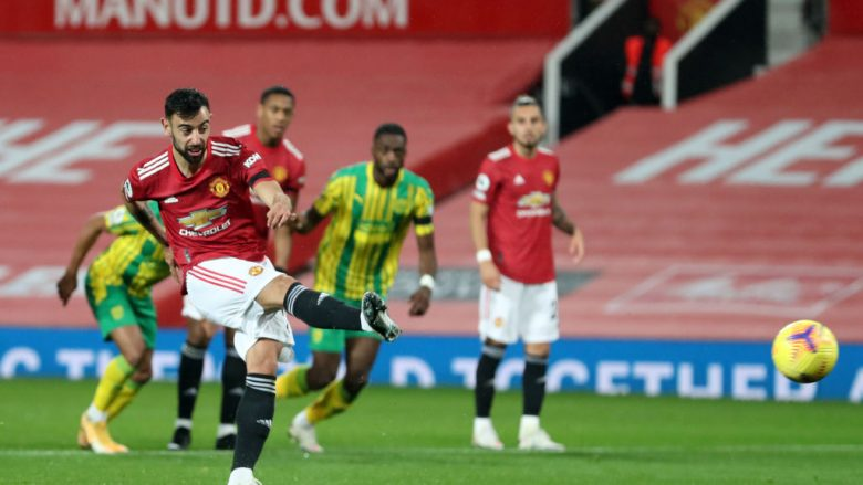 Manchester United fiton ndaj WBA, vendos goli nga penalltia i Fernandes