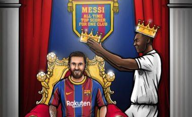 Messi barazon rekordin e madh të Peles për golat e shënuar për një skuadër të vetme
