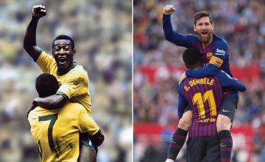Urimi i madh i Peles për Messin pas barazimit të rekordit nga argjentinasi