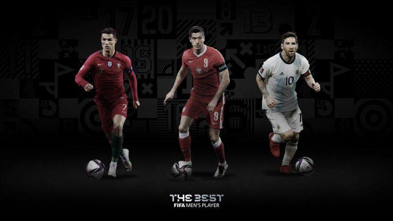 FIFA zgjedh lojtarin e vitit, Lewandowski merr çmimin para Messit e Ronaldos