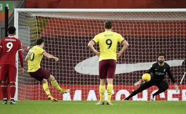 Liverpooli ka harruar të fitojë – pëson humbjen e parë në shtëpi këtë sezon nga Burnley