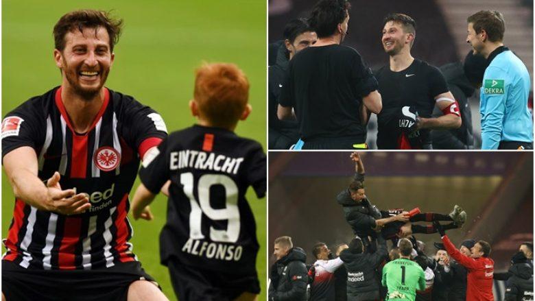 """""""Më mungon shumë djali, dua ta shoh duke u rritur"""" - kapiteni i Frankfurt, Abraham ka lënë Bundesligën që të luajë për një klub amator në vendlindje"""